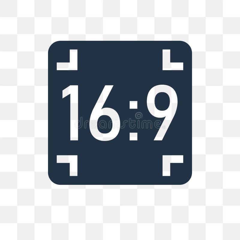 Icono del vector del aspecto aislado en el fondo transparente, aspecto t libre illustration