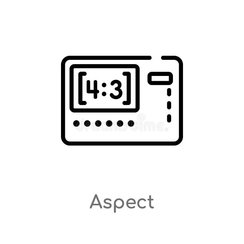 icono del vector del aspecto del esquema l?nea simple negra aislada ejemplo del elemento del concepto de la fotograf?a Movimiento libre illustration