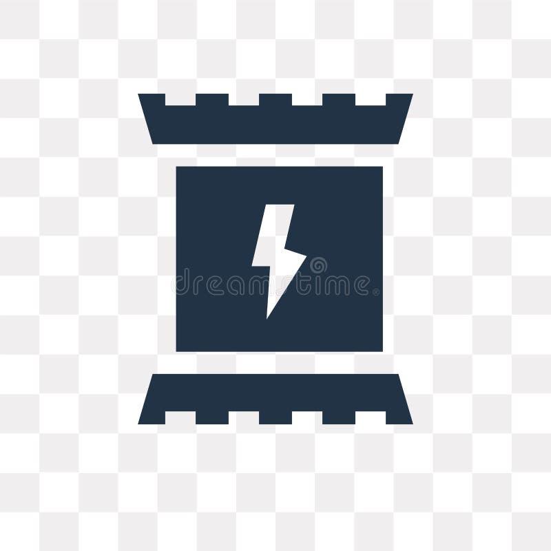 Icono del vector del bocado de la energía aislado en el fondo transparente, Ene ilustración del vector