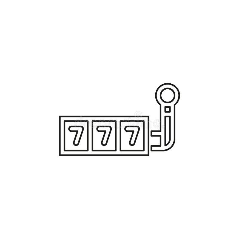 icono del vector del bote 777 libre illustration