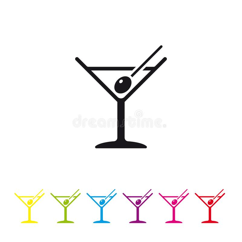 Icono del vector del cóctel de Martini libre illustration