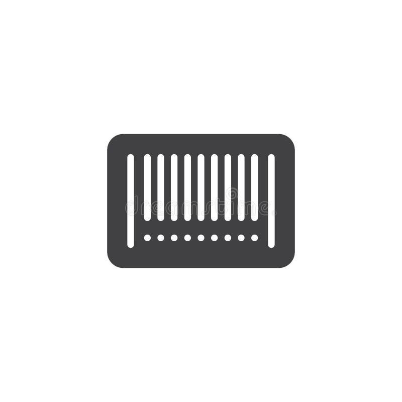 Icono del vector del código de barras ilustración del vector
