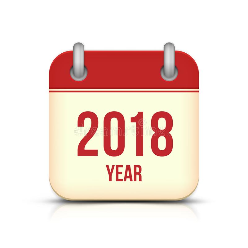 Icono del vector del calendario del Año Nuevo 2018 libre illustration