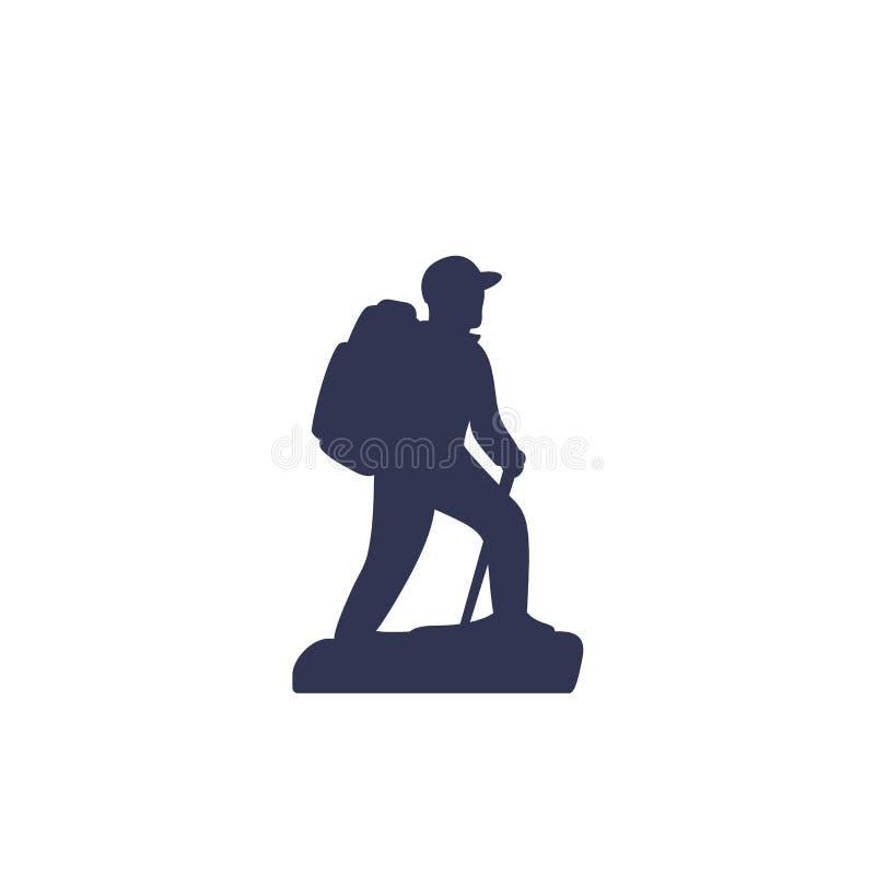 Icono del vector del caminante libre illustration