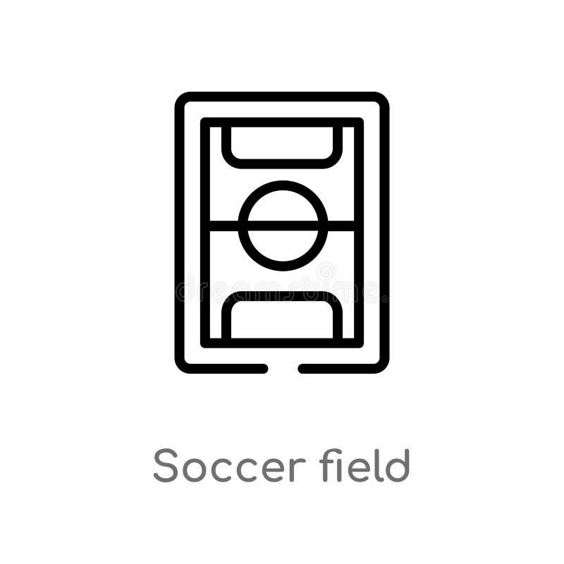 icono del vector del campo de fútbol del esquema r Movimiento Editable del vector libre illustration