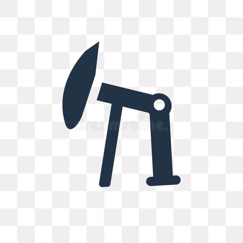 Icono del vector del campo petrolífero aislado en el fondo transparente, Oilfiel libre illustration