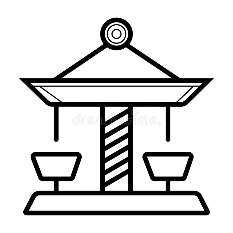 Icono del vector del carrusel ilustración del vector