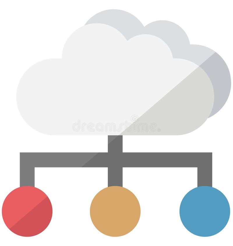 Icono del vector del centro de datos que puede modificarse o corregir fácilmente stock de ilustración
