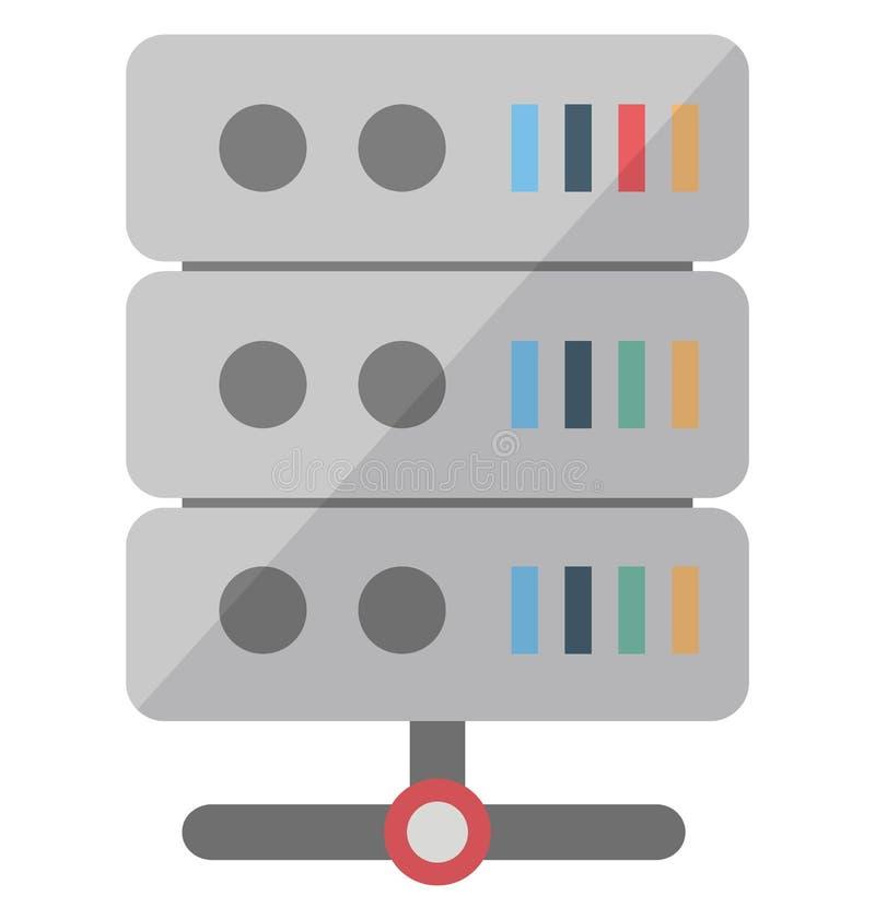Icono del vector del centro de datos que puede modificarse o corregir f?cilmente stock de ilustración