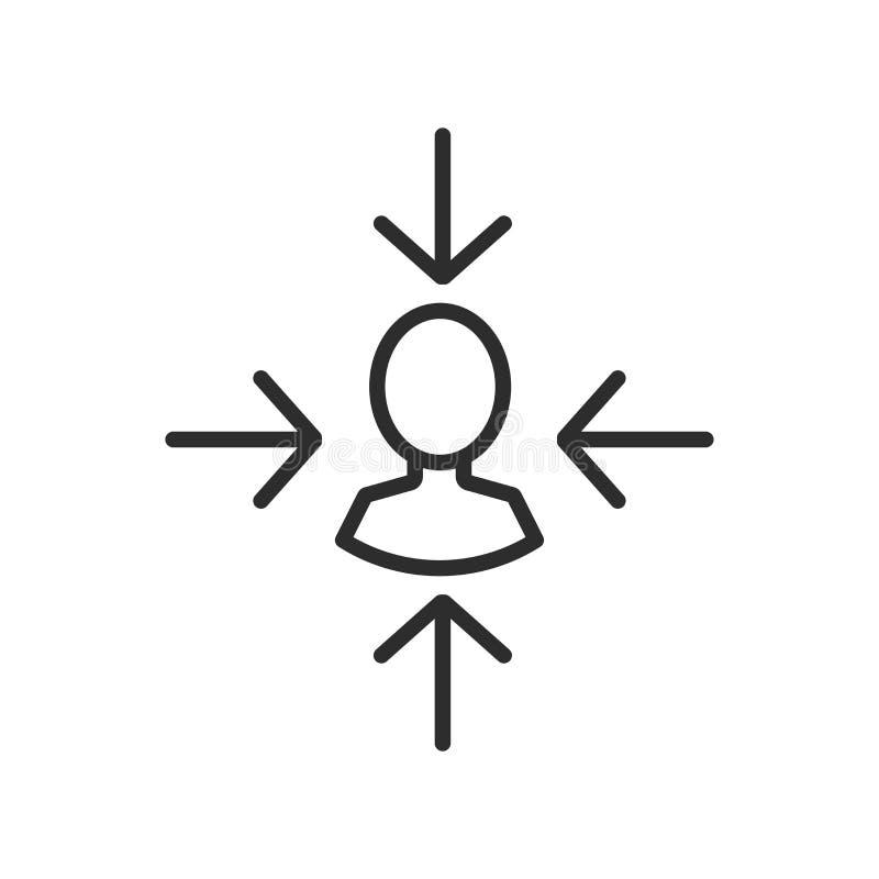 Icono del vector del cliente de la blanco stock de ilustración