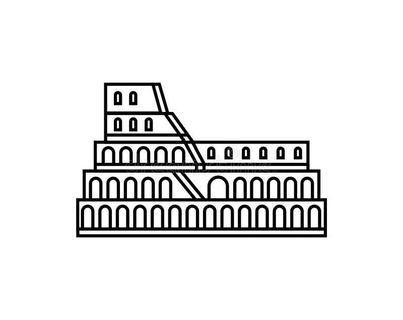 Icono del vector del coliseo Ejemplo italiano del logotipo del símbolo ilustración del vector