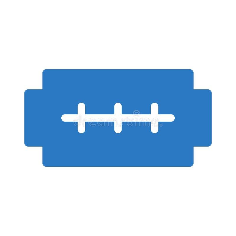 Icono del vector del color del glyph del afeitado stock de ilustración