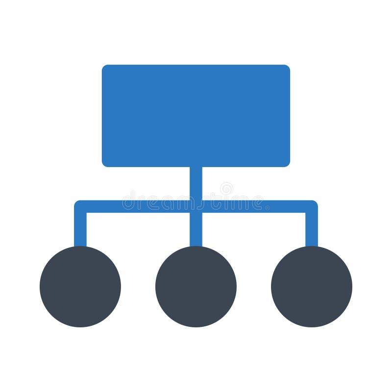 Icono del vector del color del glyph de la conexión stock de ilustración