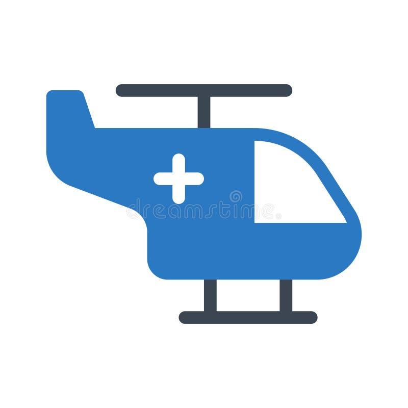 Icono del vector del color del glyph del rescate stock de ilustración