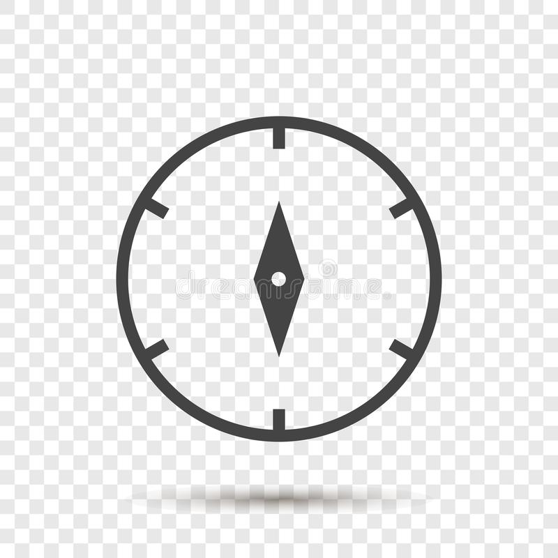 Icono del vector del compás Ejemplo de un símbolo del compás para ilustración del vector