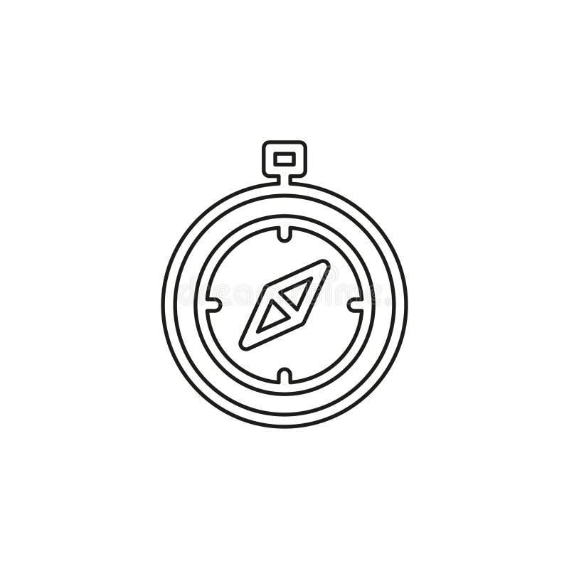 Icono del vector del comp?s stock de ilustración