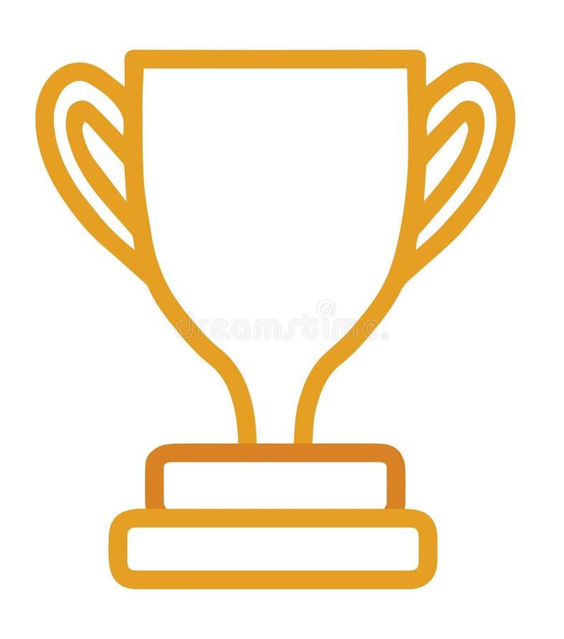Icono del vector con los esquemas de un trofeo de la taza de oro libre illustration
