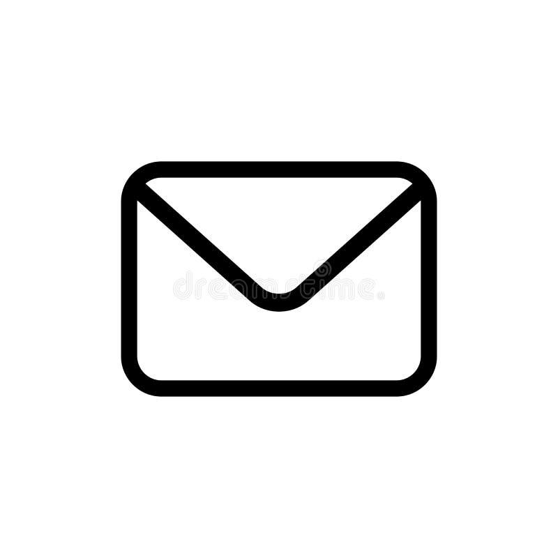 Icono del vector del correo electrónico en estilo plano ilustración del vector