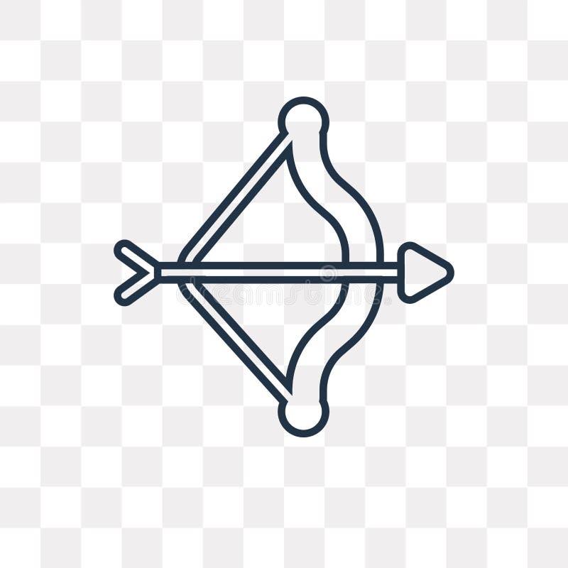 Icono del vector de Artemis aislado en el fondo transparente, A linear stock de ilustración