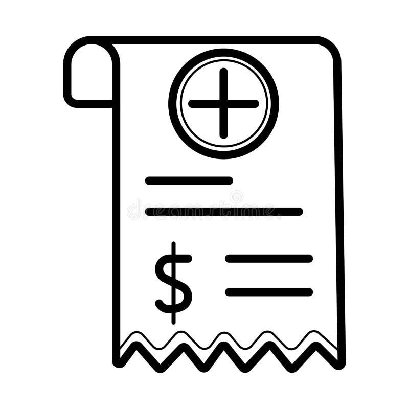 Icono del vector de Bill médico libre illustration