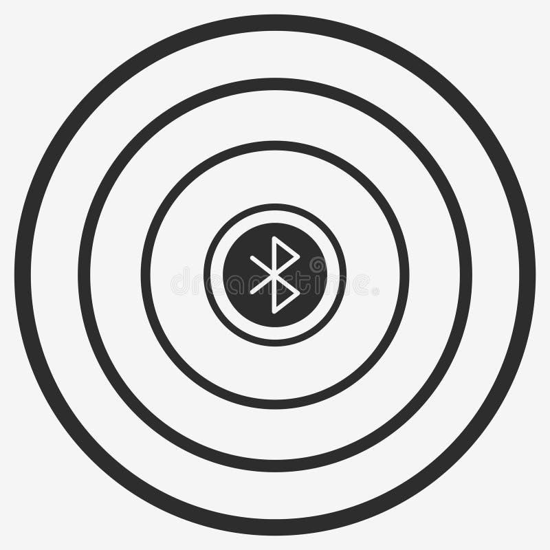 Icono del vector de Bluetooth ilustración del vector
