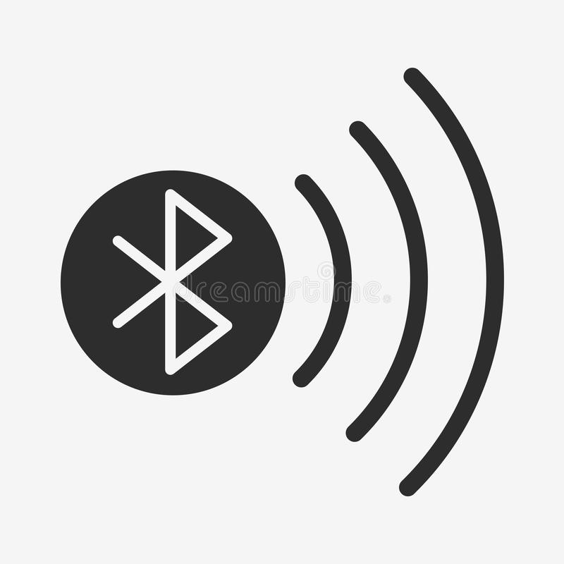 Icono del vector de Bluetooth stock de ilustración
