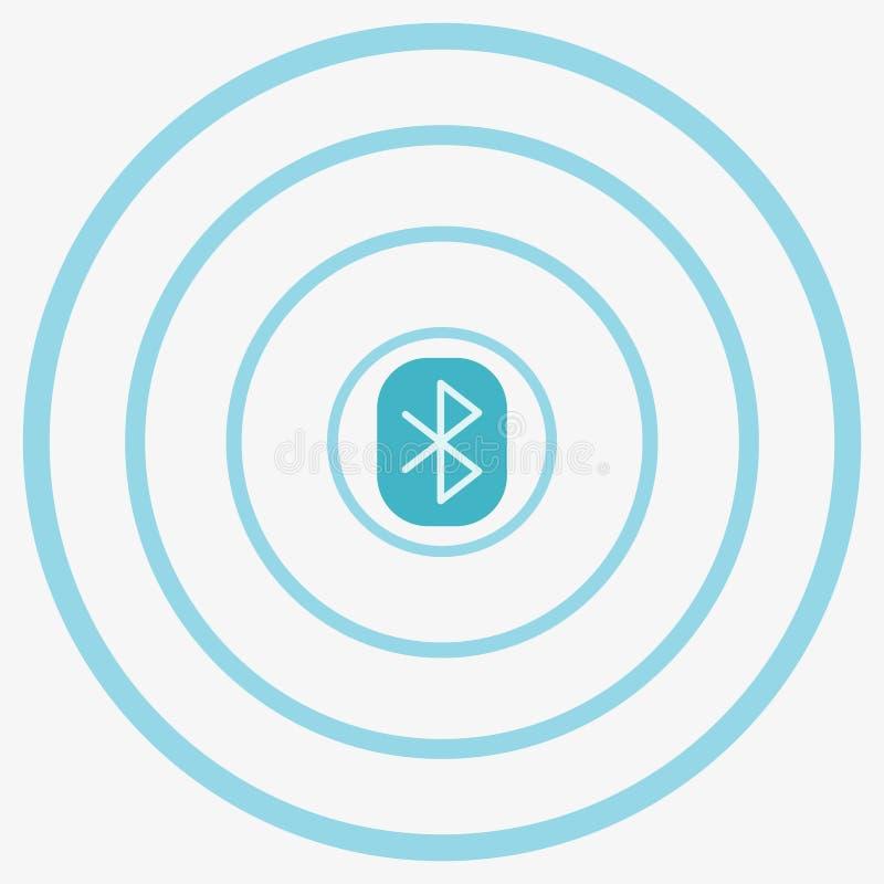 Icono del vector de Bluetooth stock de ilustración