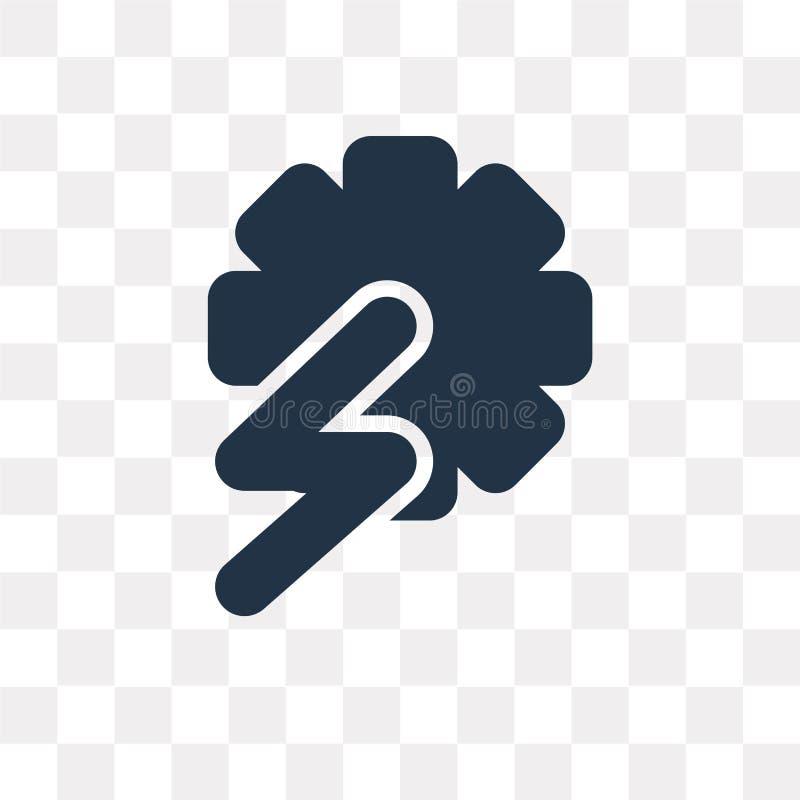 Icono del vector de central hidroeléctrica aislado en transparente libre illustration