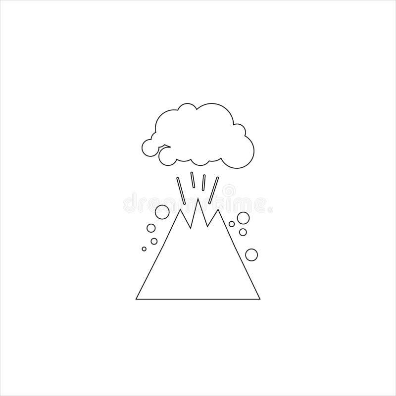 Icono del vector de Colapse de la monta?a aislado en fondo transparente, libre illustration