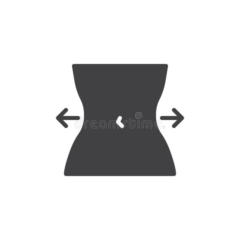 Icono del vector de control de la dieta libre illustration