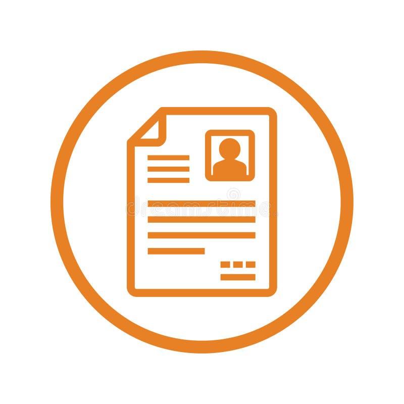 Icono del vector de CV/Resume stock de ilustración