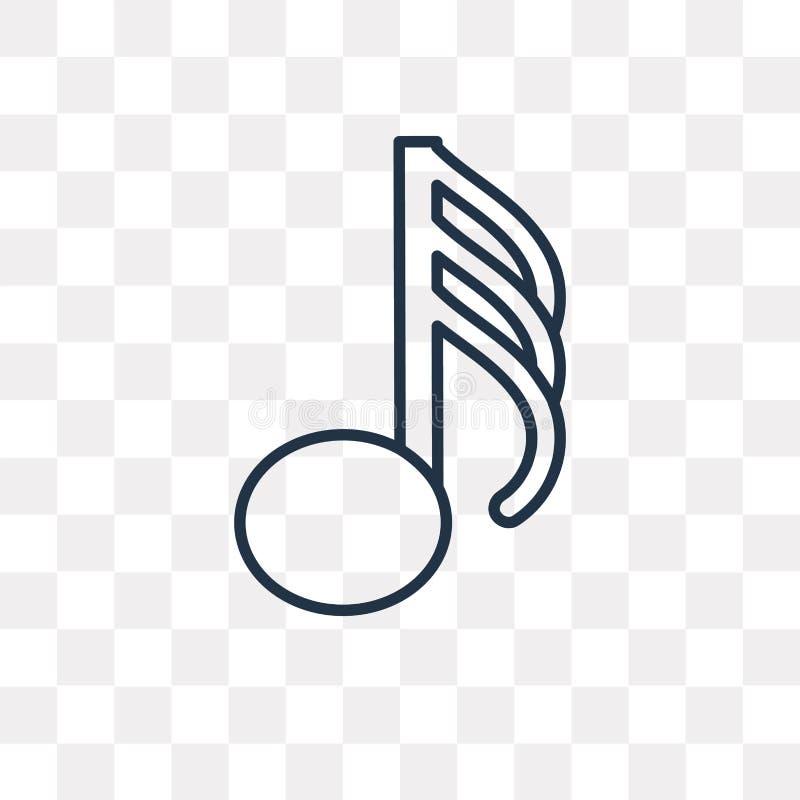 Icono del vector de Demisemiquaver aislado en el fondo transparente, l stock de ilustración