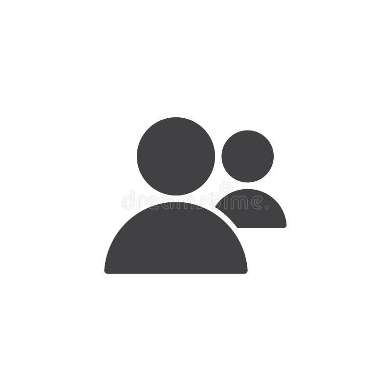 Icono del vector de dos usuarios ilustración del vector