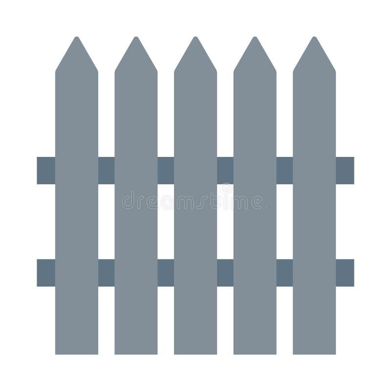 Icono del vector de Grey Fence Vector eps10 del icono del vector de la cerca Icono de la cerca icono simple del vector de la cerc stock de ilustración