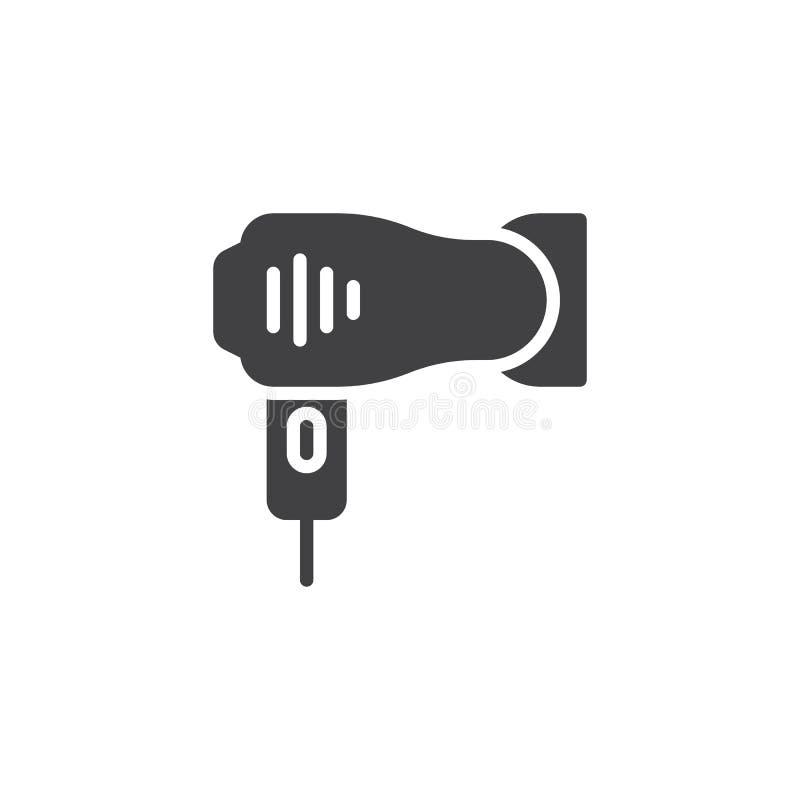 Icono del vector de Hairdryer ilustración del vector