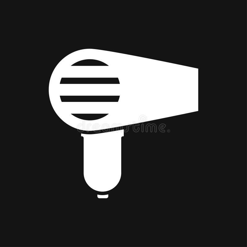 Icono del vector de Hairdryer Pelo que seca el s?mbolo, s?mbolo moderno de la p?gina web de UI ilustración del vector