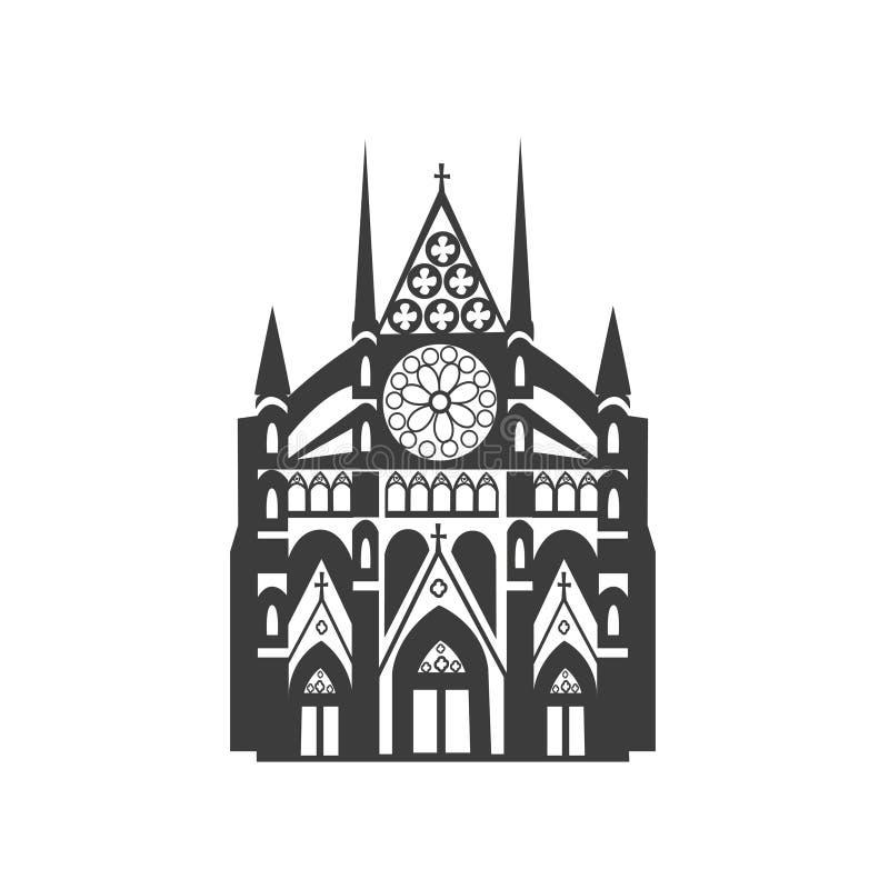 Icono del vector de la abadía de Westminster stock de ilustración