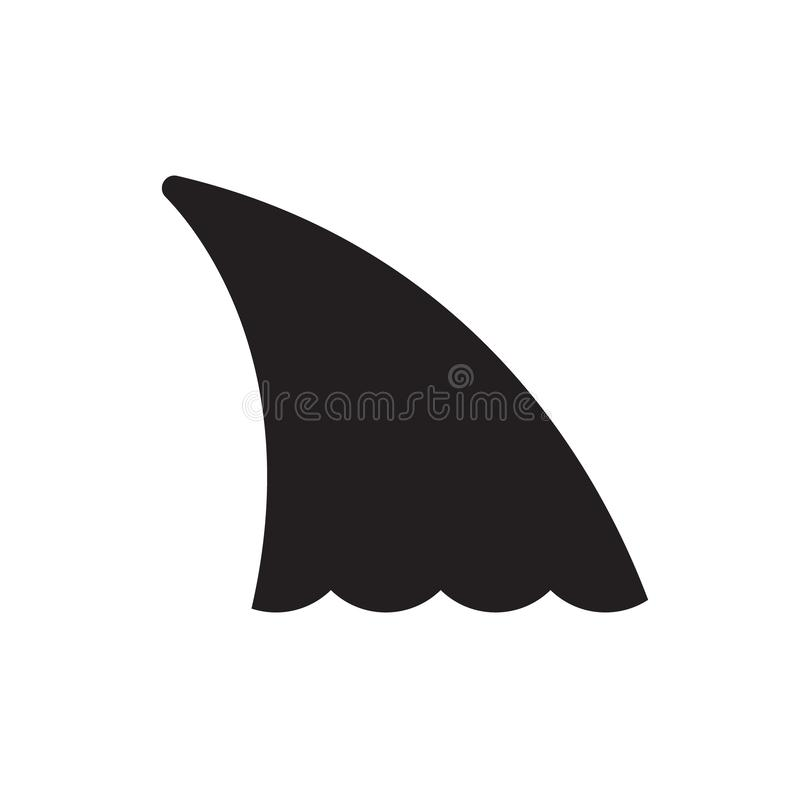 Icono del vector de la aleta del tiburón stock de ilustración