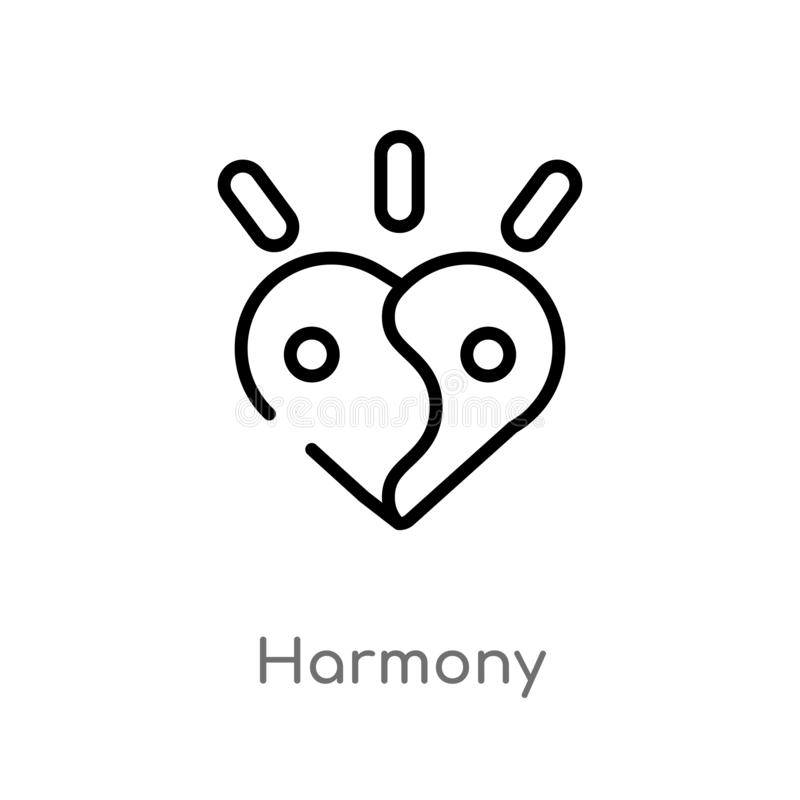icono del vector de la armonía del esquema l?nea simple negra aislada ejemplo del elemento del concepto de la m?sica armonía edit libre illustration
