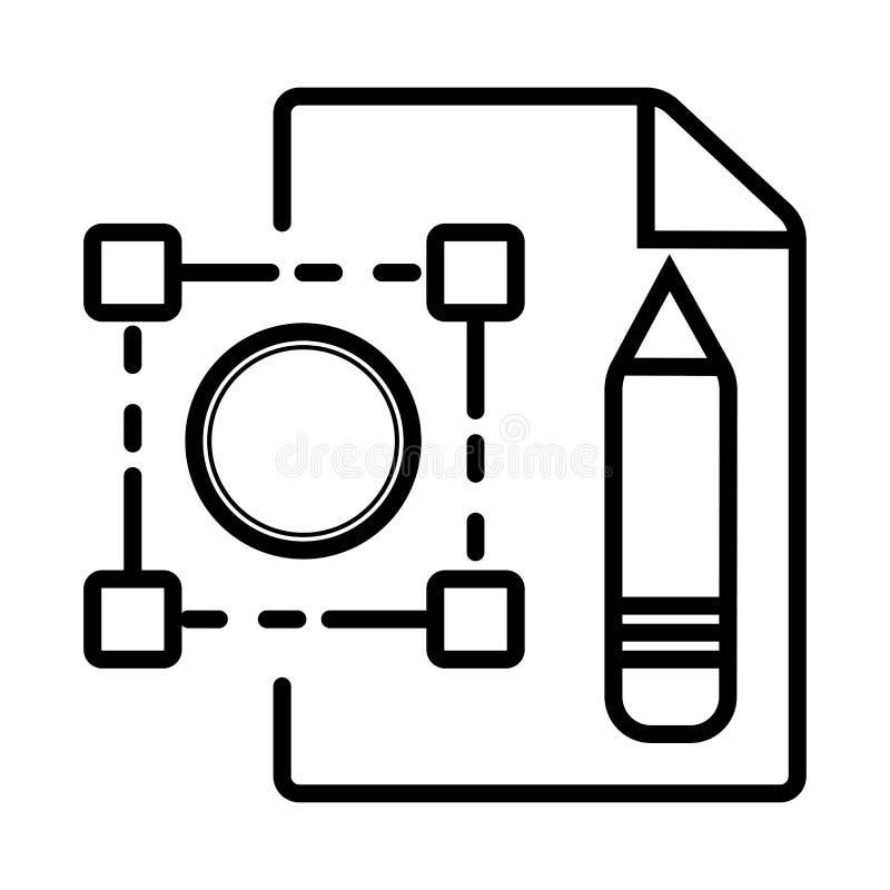 Icono del vector de la arquitectura stock de ilustración