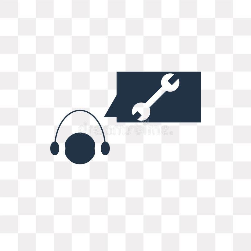 Icono del vector de la atención al cliente aislado en fondo transparente, stock de ilustración