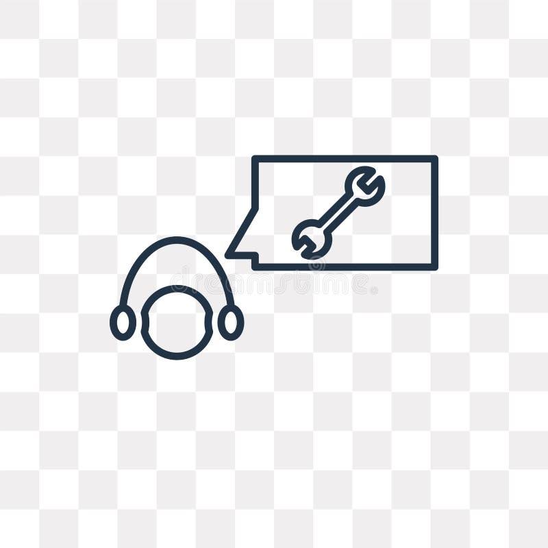 Icono del vector de la atención al cliente aislado en fondo transparente, ilustración del vector
