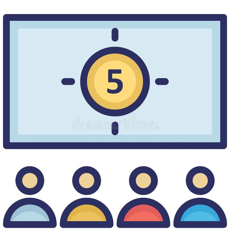 Icono del vector de la audiencia que puede ser modificado o corregir fácilmente ilustración del vector