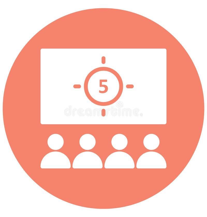 Icono del vector de la audiencia que puede ser modificado o corregir fácilmente stock de ilustración
