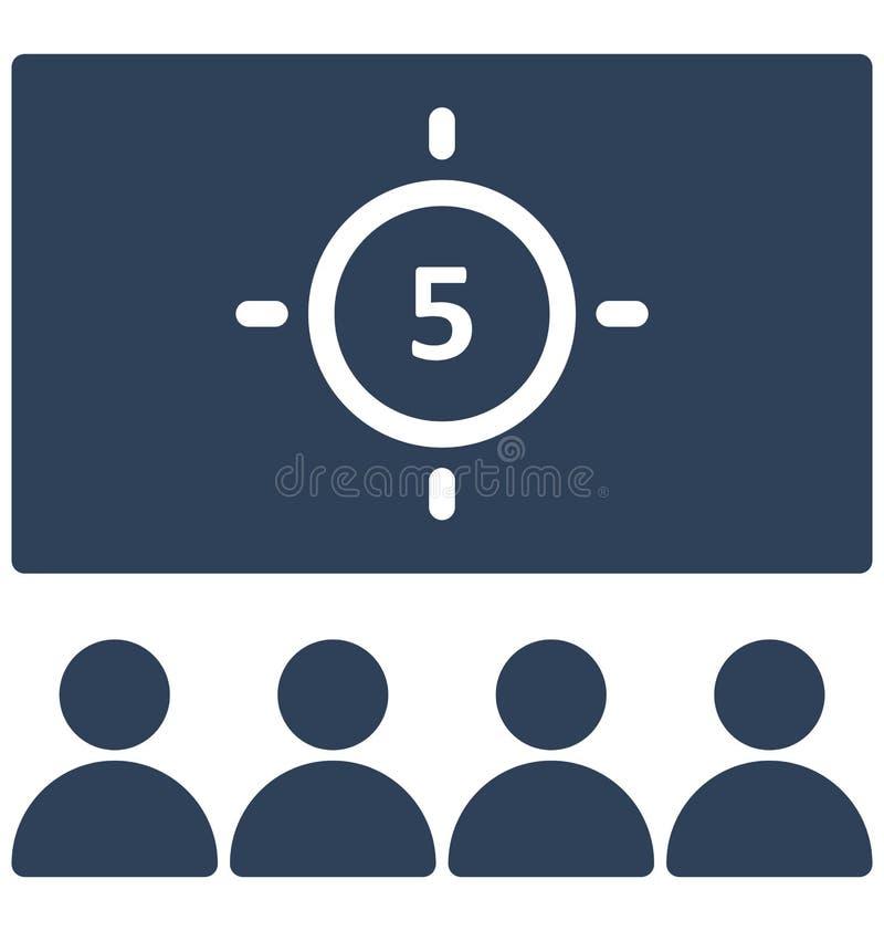 Icono del vector de la audiencia que puede ser modificado o corregir fácilmente el icono del vector de la audiencia que puede ser libre illustration
