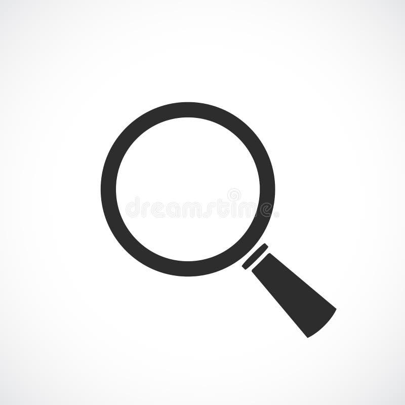 Icono del vector de la búsqueda de la lupa ilustración del vector