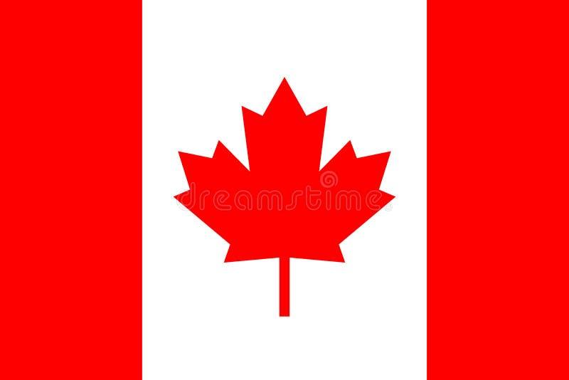 Icono del vector de la bandera de Canadá Icono del Web stock de ilustración