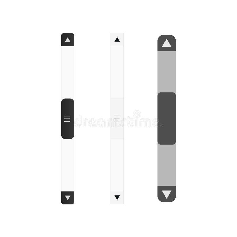 Icono del vector de la barra de desplazamiento ilustración del vector