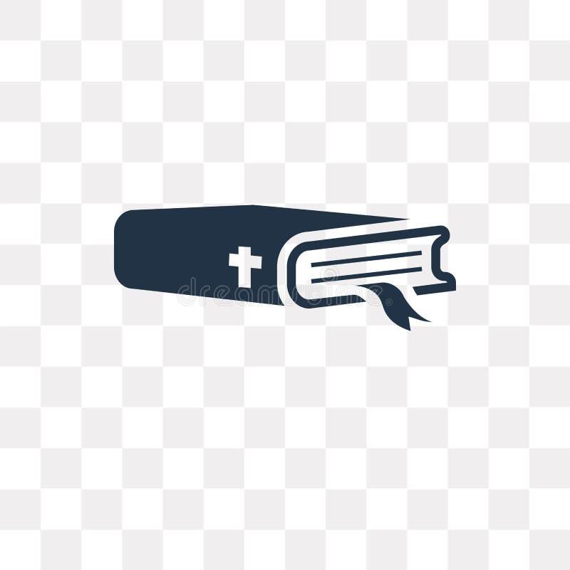 Icono del vector de la biblia aislado en el fondo transparente, tra de la biblia libre illustration