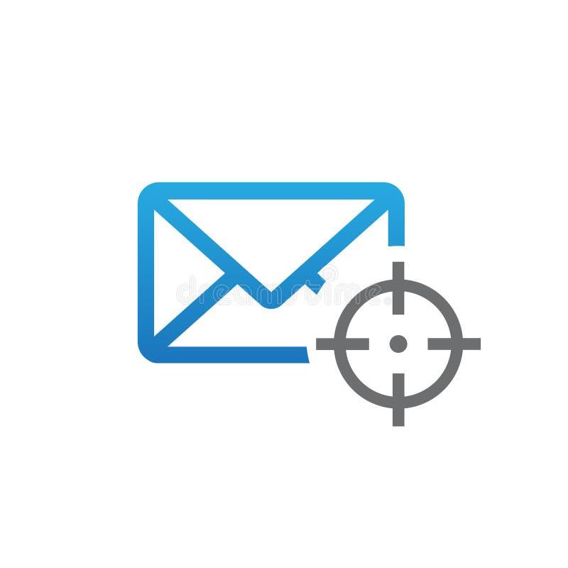 Icono del vector de la blanco del mensaje stock de ilustración